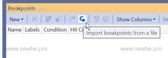 Import Breakpoints